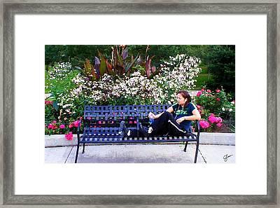 Woman In Wicker Park Framed Print by Shawn Lyte