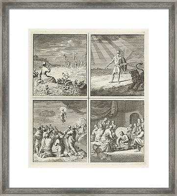 Woman In Worship At Calvary, Spiritual Armor Framed Print by Quint Lox