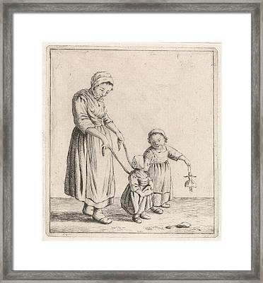 Woman, Johannes Christiaan Janson, Christina Chalon Framed Print by Johannes Christiaan Janson And Christina Chalon