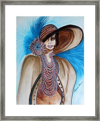 Woman Lost Framed Print by Suzanne Thomas
