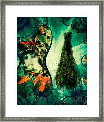 Green Mystery Montage Framed Print