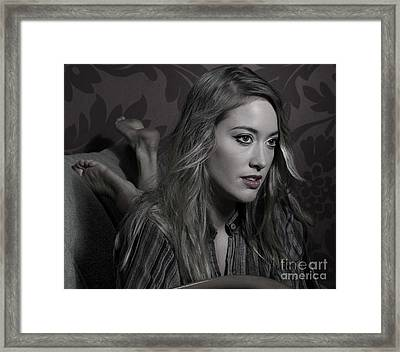 Woman... Framed Print