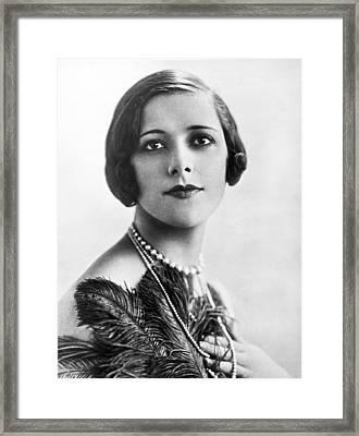 Woman Noted For Pulchritude Framed Print