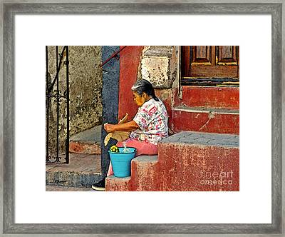 Woman Of Colonial Mexico Framed Print by Linda  Parker