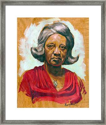 Woman Of Color Framed Print by Harry West