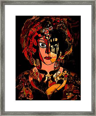 Woman Of Mystery Framed Print by Natalie Holland