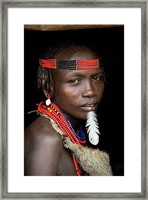 Woman Of The Dassenech Tribe Framed Print