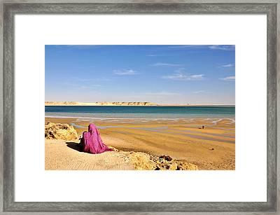Woman Of The Desert Framed Print by Manu G
