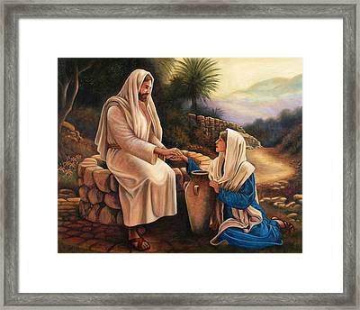 Woman Of The Well Framed Print