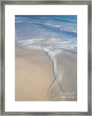 Framed Print featuring the photograph Woman On Beach by Chris Scroggins