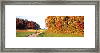 Woman On Horse, Cantone Zug, Switzerland Framed Print by Panoramic Images