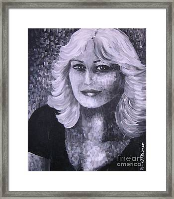 Woman Portreit Framed Print by Roni Ruth Palmer