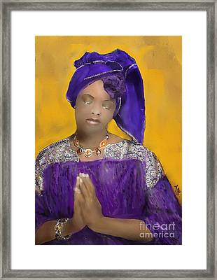Woman Praying Framed Print