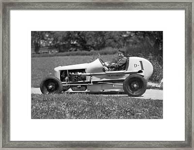 Woman Race Car Driver Framed Print