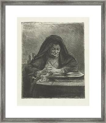 Woman Reading, Jan Chalon Framed Print