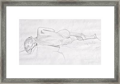 Woman Reclining Framed Print