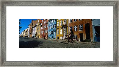 Woman Riding A Bicycle, Copenhagen Framed Print