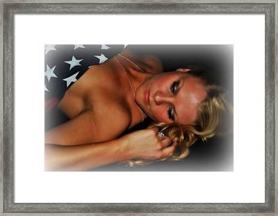Woman Salute Framed Print