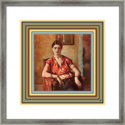 Woman Sitting In Chair Framed Print by Gary Grayson