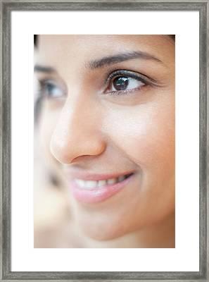 Woman Smiling Framed Print