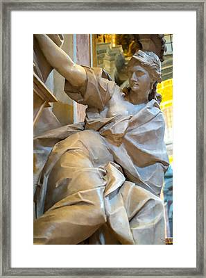 Woman Statue In Vatican Framed Print by SM Shahrokni