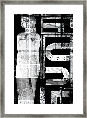 Woman Statue Framed Print by Tommytechno Sweden