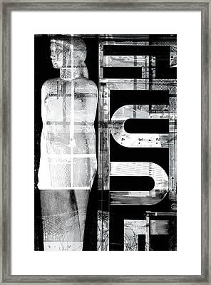 Woman Statue Framed Print