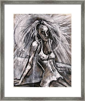 Woman Sunbather Framed Print