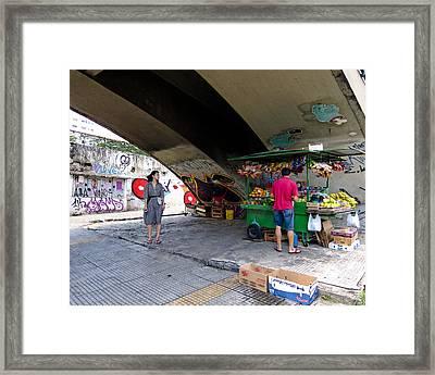 Woman Under The Bridge Framed Print