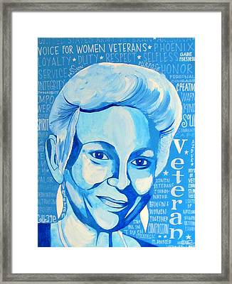Woman Veteran Gabe Framed Print