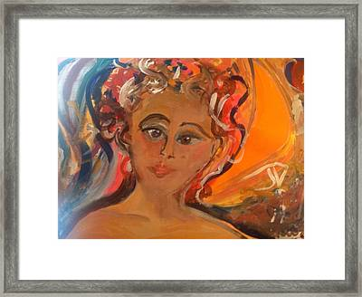 Woman We Need You  Framed Print by Judith Desrosiers