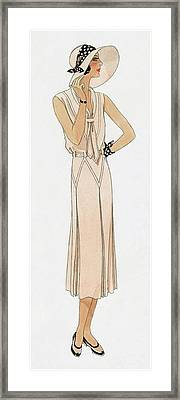 Woman Wearing A Dress By Martial Et Armand Framed Print