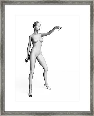 Woman With Arm Out Framed Print