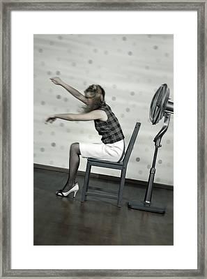 Woman With Fan Framed Print by Joana Kruse