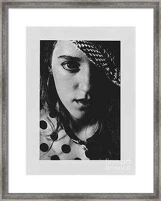 Framed Print featuring the photograph Woman With Hat by Jeepee Aero
