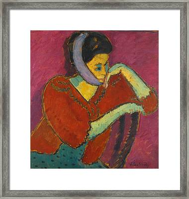 Woman With Head-bandage Framed Print