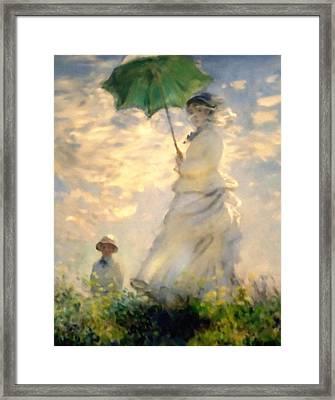 Woman With Parasol Dedication Framed Print by Georgiana Romanovna