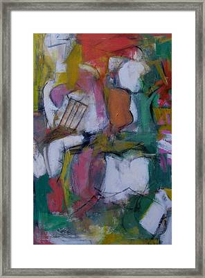 Woman With Two Figures Framed Print