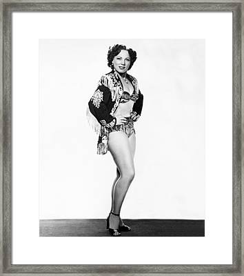Woman Wrestling Champion Framed Print by Underwood Archives