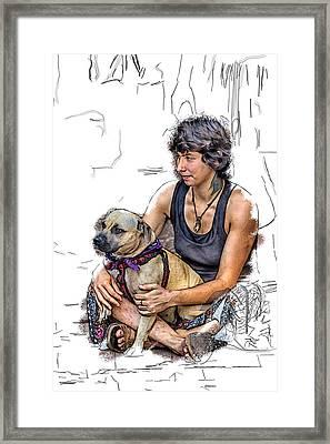 Womans Best Friend Framed Print by John Haldane