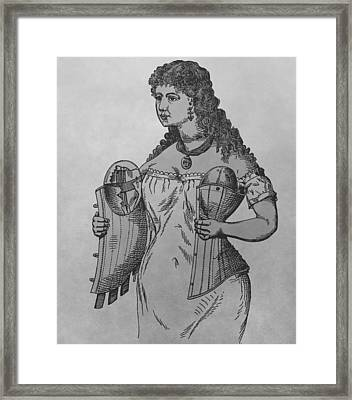 Woman's Corset Framed Print by Dan Sproul