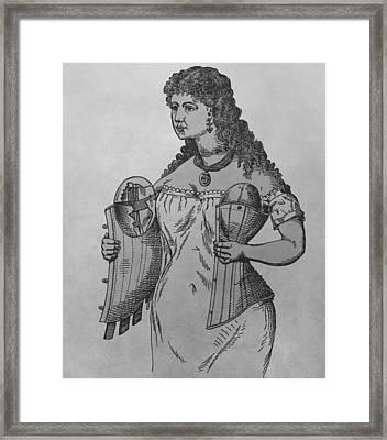 Woman's Corset Framed Print