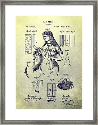 Woman's Corset Patent Framed Print by Dan Sproul