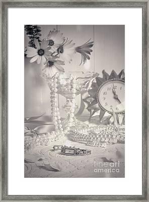 Womans Dressing Table Framed Print by Amanda Elwell