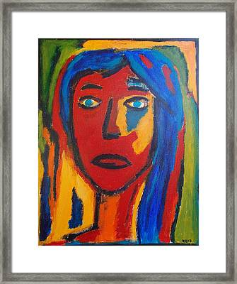 Womans Face Framed Print