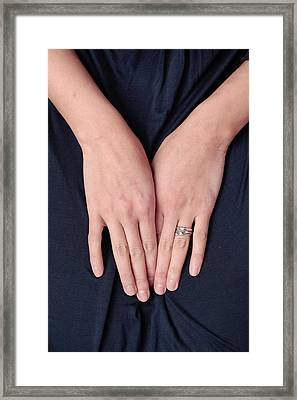 Woman's Hands Framed Print by Tom Gowanlock