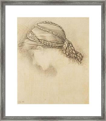 Womans Head, Detail From A Sketchbook Framed Print by Sir Edward Coley Burne-Jones
