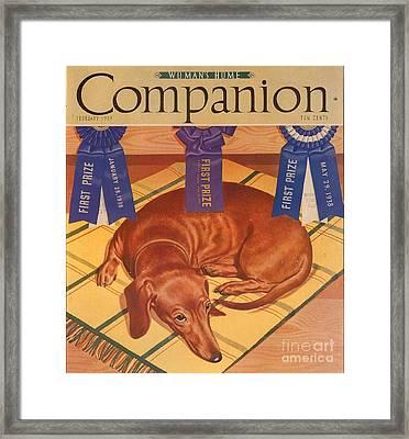 Womans Home Companion 1930s Usa Dogs Framed Print