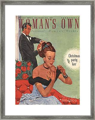 Woman�s Own 1940s Uk Make-up Makeup Framed Print by The Advertising Archives