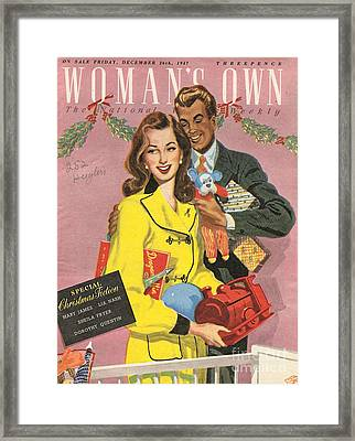 Womans Own 1940s Uk Presents Gifts Framed Print by The Advertising Archives